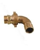 Соединение для шланга, разъемное, угловое, НР, RASTELLI, модель 851