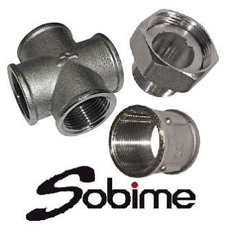 Фитинги SOBIME резьбовые латунные никелированные