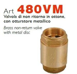Обратные клапаны RASTELLI, с латунным затвором, модель 480VM