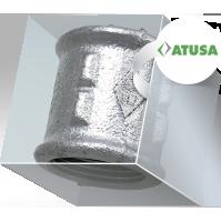 Фитинги  ATUSA (Испания) чугунные оцинкованные