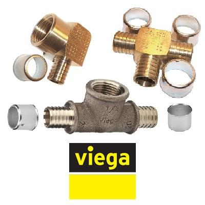 Пресс-фитинги VIEGA Pexfit PRO серия 4700 бронзовые для PE‑Xc/Al/PE‑Xc труб