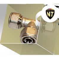 Фитинги NT компрессионные для металлопластиковых труб, никелированные