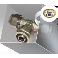 Фитинги NTM серия 900 компрессионные никелированные для металлоплатиковых труб